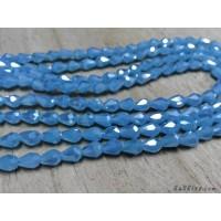 คริสตัลหยดน้ำหัวตัด 5*7 มิล สีฟ้า