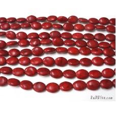 หินฮาวไลท์ทรงรี 15*20 มิล สีแดง