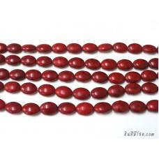 หินฮาวไลท์ทรงรี 13*18 มิล สีแดง