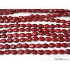 หินฮาวไลท์ทรงรี 10*13 มิล สีแดง