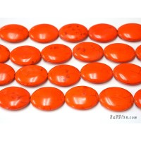 หินฮาวไลท์ทรงรี 30*40 มิล สีส้ม