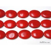 หินฮาวไลท์ทรงรี 30*40 มิล สีแดง