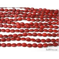 หินฮาวไลท์ทรงรี 12*16 มิล สีแดง