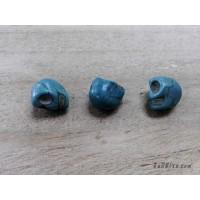 หินฮาวไลท์หัวกระโหลกสีฟ้า