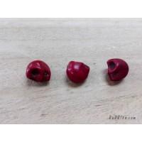 หินฮาวไลท์หัวกระโหลกสีแดง