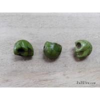 หินฮาวไลท์หัวกระโหลกสีเขียว