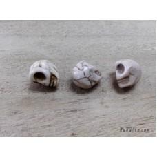 หินฮาวไลท์หัวกระโหลกสีขาว