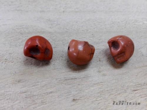 หินฮาวไลท์หัวกระโหลกสีส้ม