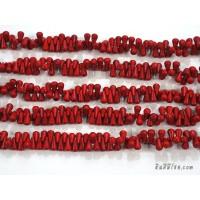 หินฮาวไลท์หยดน้ำสีแดง 7*12 มิล