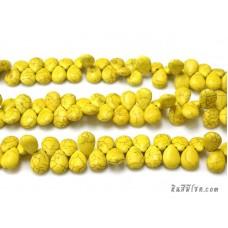 หินฮาวไลท์หยดน้ำ 13*18 มิล สีเหลือง