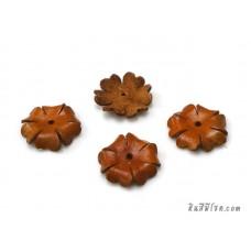 ดอกไม้หนัง 6 กลีบ 25 มิล สีส้ม