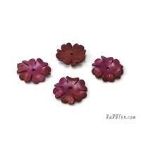 ดอกไม้หนัง 6 กลีบ 25 มิล สีชมพู