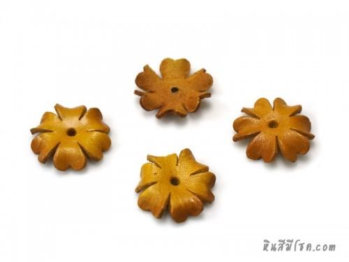 ดอกไม้หนัง 6 กลีบ 25 มิล สีเหลือง