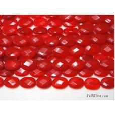 หินทรงรีเจียร 13*18 มิล สีแดงสด