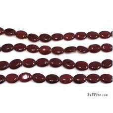 หินทรงรี 13*18 มิล สีม่วงอมแดง