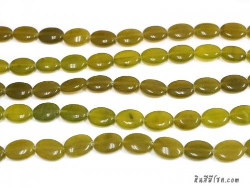หินทรงรี 13*18 มิล สีเหลืองมะเฟือง