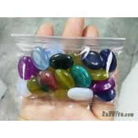 หินทรงรี 13*18 มิล คละสี (20 เม็ด)