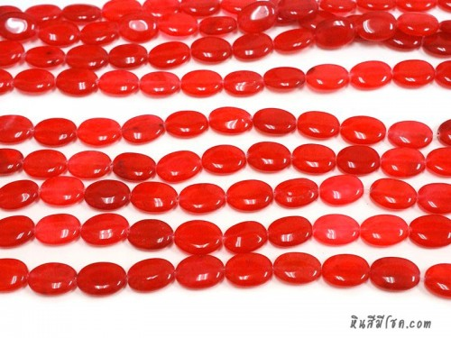 หินทรงรี 13*18 มิล สีแดงอมชมพู