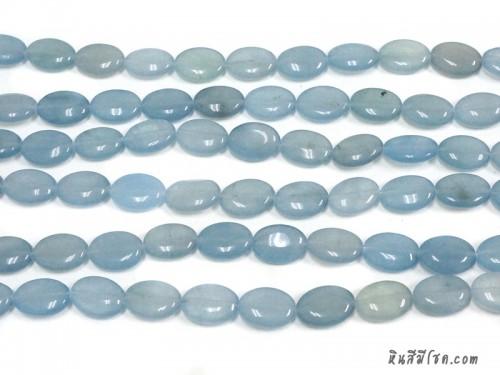 หินทรงรี 13*18 มิล สีฟ้าอ่อน