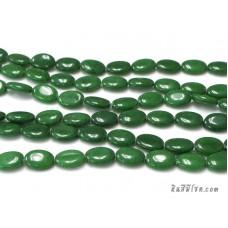 หินทรงรี 13*18 มิล สีเขียว