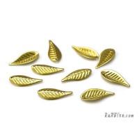 ใบไม้พลาสติก สีทอง (10 ชิ้น)