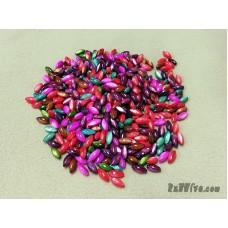เปลือกหอยทรงเม็ดข้าว คละสี (36 เม็ด)