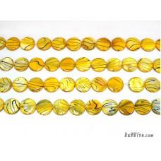 เปลือกหอยกลมแบน 20 มิล สีเหลือง