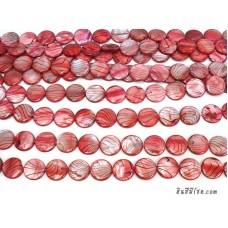 เปลือกหอยกลมแบน 20 มิล สีแดง