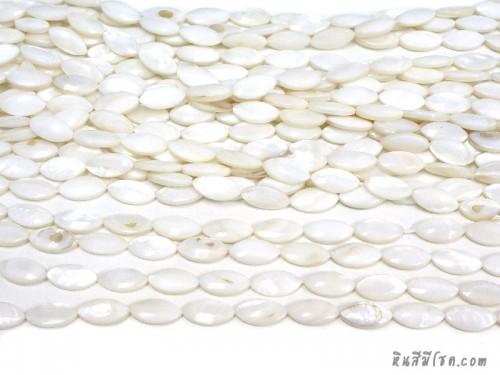 เปลือกหอยแหลม 8*17 มิล สีขาว