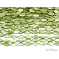 เปลือกหอยแหลม 8*17 มิล สีเขียว