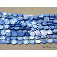 เปลือกหอยทรงรี 13*18 มิล สีน้ำเงิน