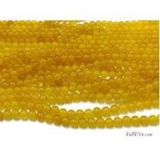 หินกลม 8 มิล สีเหลืองใส